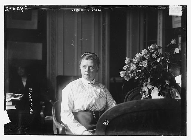 Katherine Bement Davis, ca. 1910. Library of Congress.