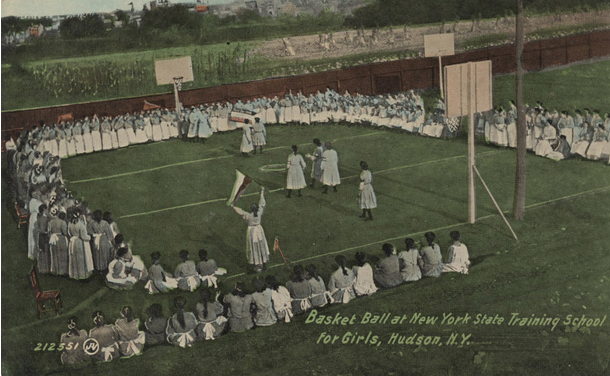 Photo comes from the above mentioned website. It is of NY State Training School For Girls in Hudson, NY postcard. Courtesy of the Museum of disABILITY History