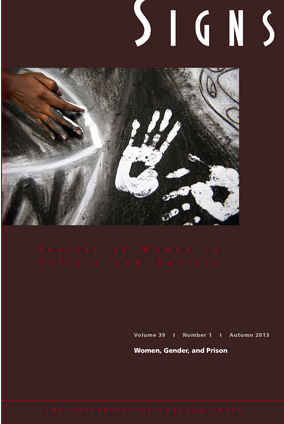 Cover of Signs 39, no. 1 featuring a detail from Toni Bowers and Natasha Ward's untitled mural.