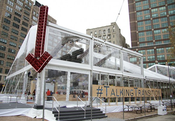 talking transitions tent
